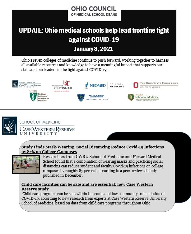 UPDATE: Ohio Medical Schools help lead frontline fight against COVID-19